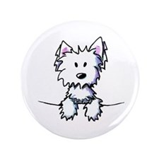 "Pocket Westie Caricature 3.5"" Button (100 pack)"