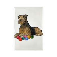 Airdale Terrier Christmas Rectangle Magnet