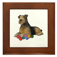 Airdale Terrier Christmas Framed Tile