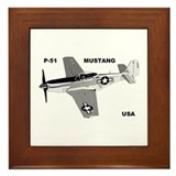 P-51 MUSTANG Framed Tile
