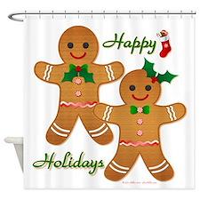 Gingerbread Man - Boy Girl Shower Curtain