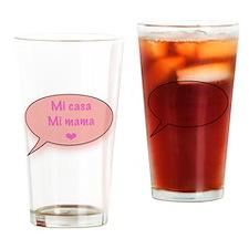 Mi casa Mi mama maternity Drinking Glass