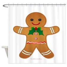 Gingerbread Man - Boy Shower Curtain