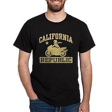 California Republic female Biker T-Shirt