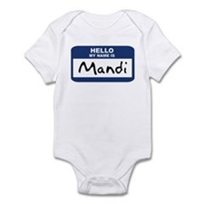 Hello: Mandi Infant Bodysuit