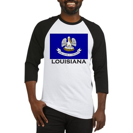 Louisiana Flag Stuff Baseball Jersey