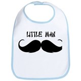 Mustache Little Man Bib