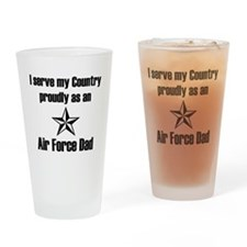 AF Dad Proudly Serve Drinking Glass