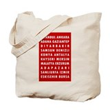 Red Turkey Cities Tote Bag