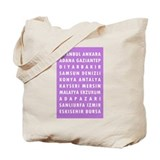 Purple Turkey Cities Tote Bag