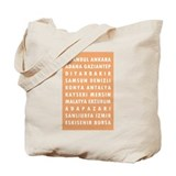 Peach Turkey Cities Tote Bag