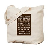 Chocolate Turkey Cities Tote Bag