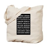 Black Turkey Cities Tote Bag