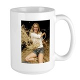 Coffee Mug of model Allison in the Hay