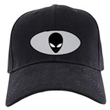 Black &amp; Grey Alien Cap