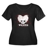 WICKED-BLACK-RED-2 Plus Size T-Shirt