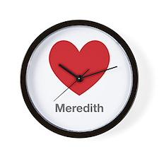 Meredith Big Heart Wall Clock