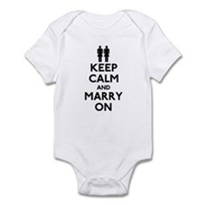 Lesbian Keep Calm and Marry On Onesie