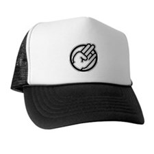 Black on white Trucker Hat