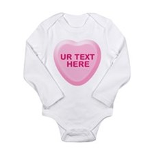 Banana Candy Heart Personalized Long Sleeve Infant