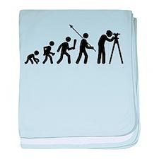 Land Surveying baby blanket