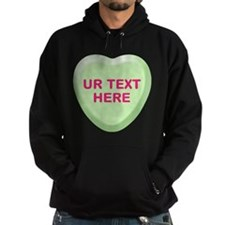 Lime Candy Heart Personalized Hoodie