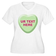 Lime Candy Heart Personalized T-Shirt