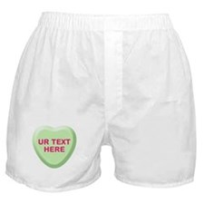 Lime Candy Heart Personalized Boxer Shorts