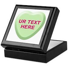 Lime Candy Heart Personalized Keepsake Box