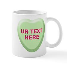 Lime Candy Heart Personalized Mug