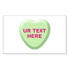 Lime Candy Heart Personalized Decal