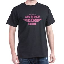 Proud Air Force Bride W [pink] T-Shirt