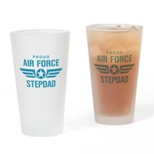 Proud Air Force Stepdad W Drinking Glass