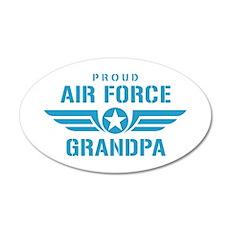 Proud Air Force Grandpa W 20x12 Oval Wall Decal