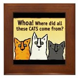 Funny Cats Framed Tile