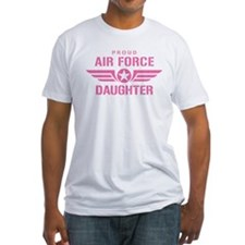 Proud Air Force Daughter W [pink] Shirt