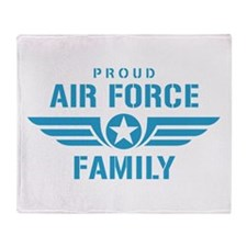 Proud Air Force Family W Throw Blanket