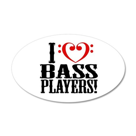 I Love Bass Players Wall Decal