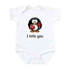 I Love You Penguin Infant Bodysuit