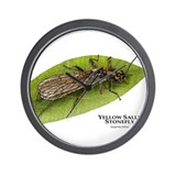 Yellow Sally Stonefly Wall Clock