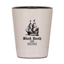 Black Death 777 - Ol Ships Rum Shot Glass