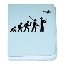 RC Airplane baby blanket