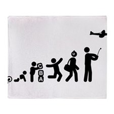 RC Airplane Throw Blanket