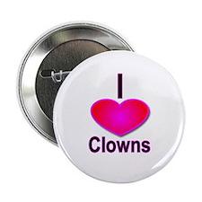 I Love Clowns Button (10 pack)