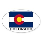 Colorado Flag Stuff Oval Decal
