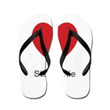 Stephanie Big Heart Flip Flops