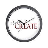 I Live to Create Wall Clock