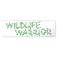 """Wildlife Warrior"" Bumper Bumper Sticker"