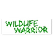"""Wildlife Warrior"" Bumper Car Sticker"