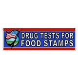 DRUGS FOOD STAMPS Bumper Bumper Sticker
